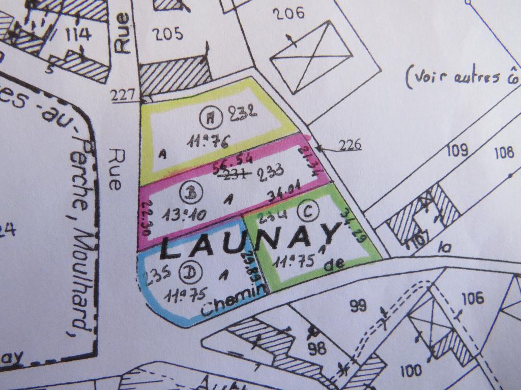A vendre terrain 1176M² saumeray